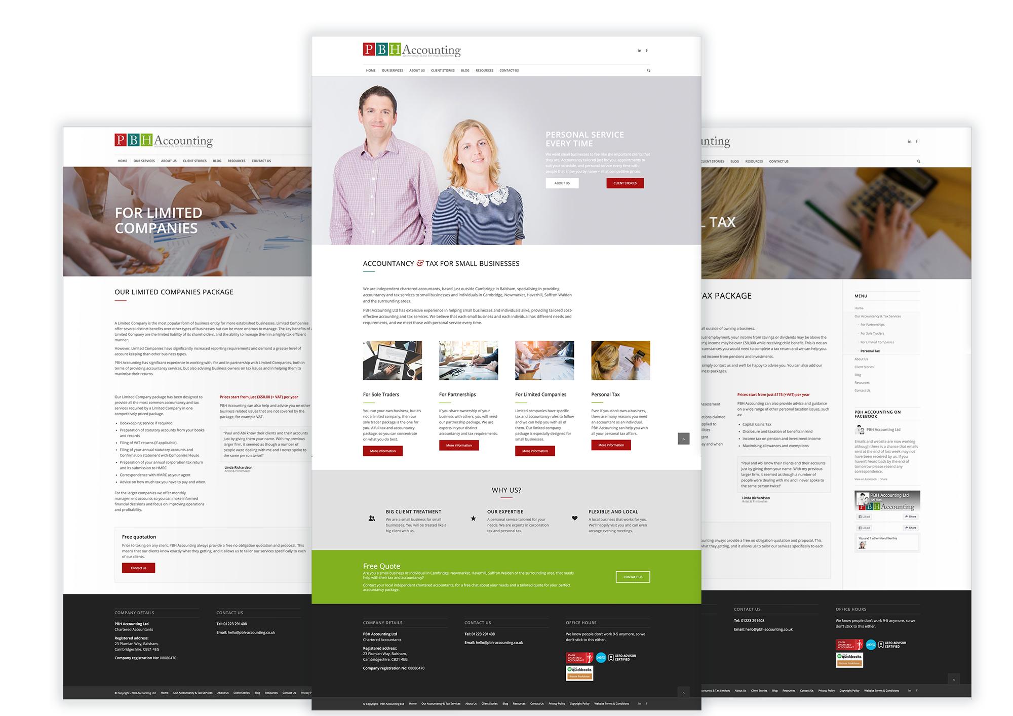 PBH Accounting website