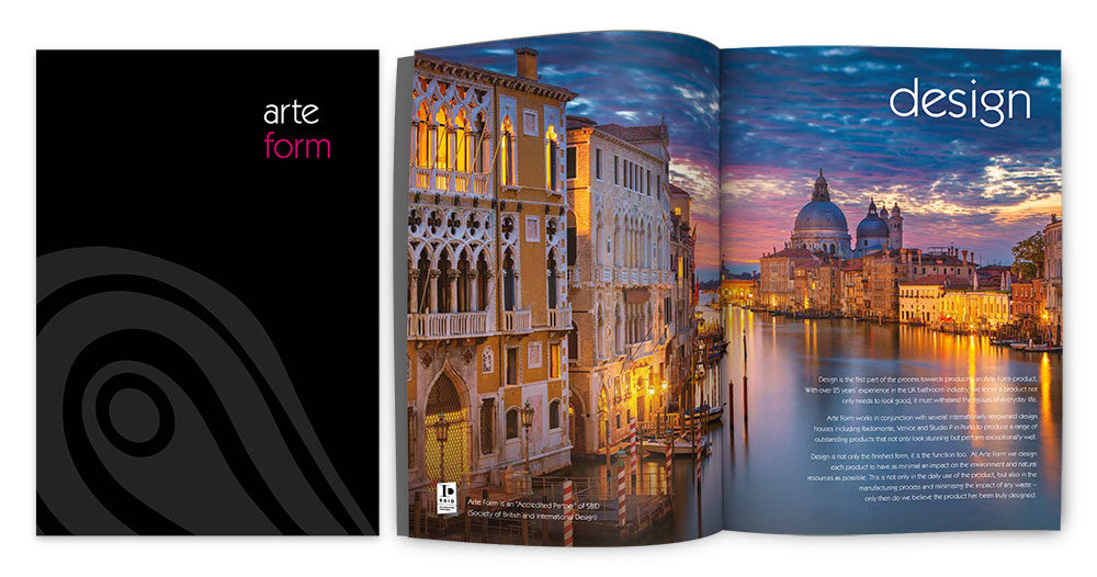 Arte Form Brochure Cover Spread